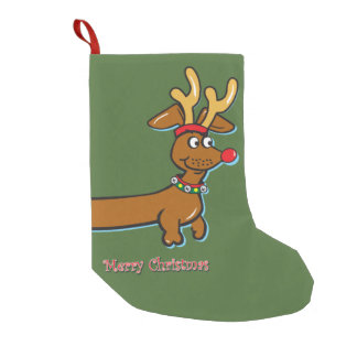 Merry Christmas Dachshund Small Christmas Stocking