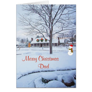 Merry Christmas Dad Card