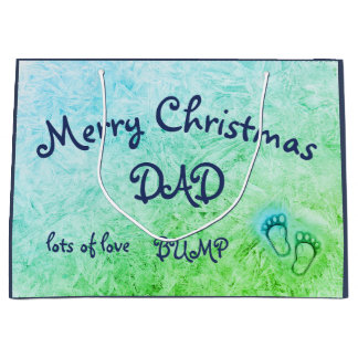 Merry Christmas Dad, from Bump design Large Gift Bag