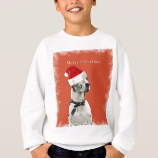Merry Christmas. Dalmatian dog in a santa hat Sweatshirt