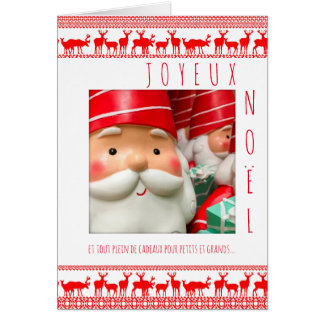 Merry Christmas Deco Father Christmas Chart with Card