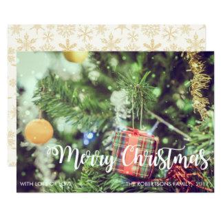 Merry Christmas Decoration Tree Photo Card