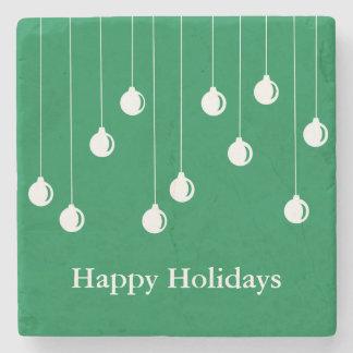 Merry Christmas Decorations Stone Coaster