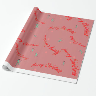 Merry Christmas Dino wrapping paper