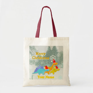 Merry Christmas Dinosaurs Gift Bag