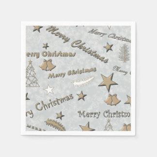 Merry Christmas Disposable Napkin