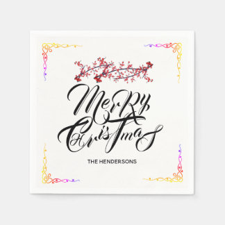 Merry Christmas - Disposable Napkin