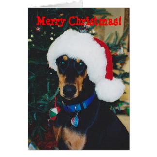 Merry Christmas! Doberman Greeting Card