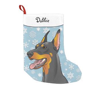 Merry Christmas Doberman Stocking