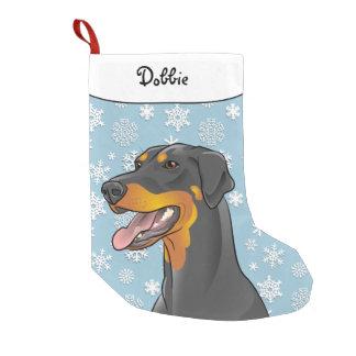 Merry Christmas Doberman Stocking Flopped Ears