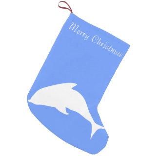 Merry Christmas Dolphin Small Christmas Stocking