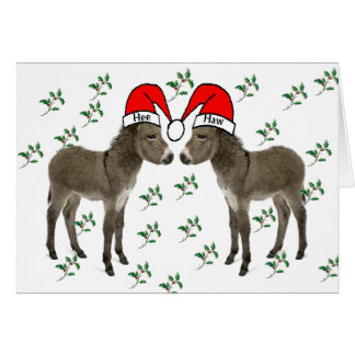 Merry Christmas, Donkey Christmas Card