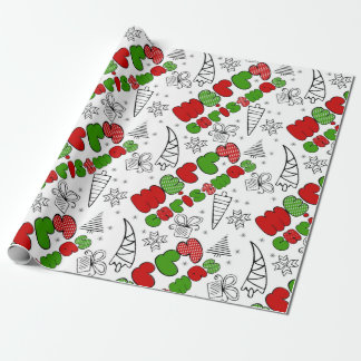 """Merry Christmas"" doodle kid's drawning style, Wrapping Paper"