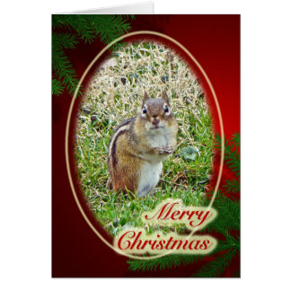 Merry Christmas Eastern Chipmunk Card