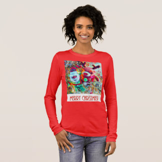Merry christmas elf and reindeer long sleeve T-Shirt