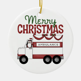 Merry Christmas EMT Ornament