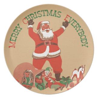 Merry Christmas Everybody Plate