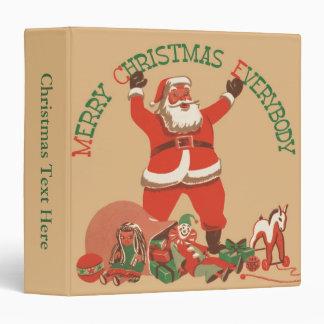 Merry Christmas Everybody! Vintage Santa Claus 3 Ring Binders