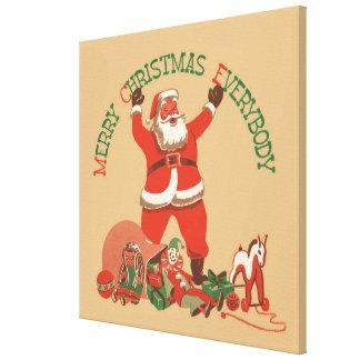 Merry Christmas Everybody! Vintage Santa Claus Canvas Print