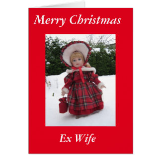 Merry Christmas Ex Wife card