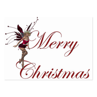 Merry Christmas Faerie Holiday Gift Tags Large Business Card