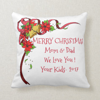 Merry Christmas_Family-TEMPLATE_Gift_Pillow_Lg Throw Pillow