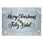 Merry Christmas Feliz Natal, Brazil Holiday Card