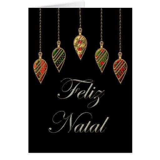 Merry Christmas Feliz Natal Portuguese Card