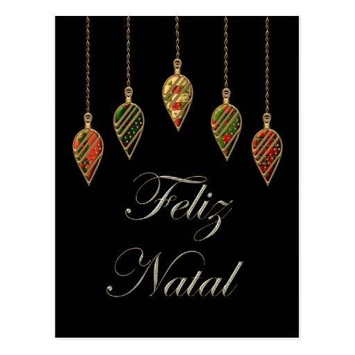 Merry Christmas Feliz Natal Portuguese Post Cards