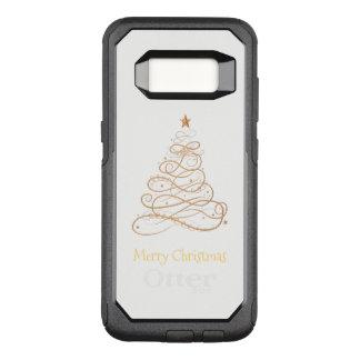 """Merry Christmas"" Filigree Swirls Christmas Tree OtterBox Commuter Samsung Galaxy S8 Case"
