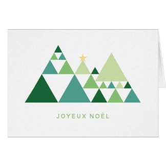 Merry Christmas fir trees minimalists modern Card