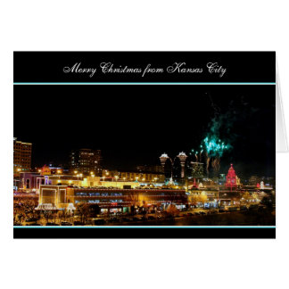 Merry Christmas Fireworks Kansas City Plaza Lights Card