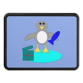 Merry Christmas Fishing Penguin Hitch Cover