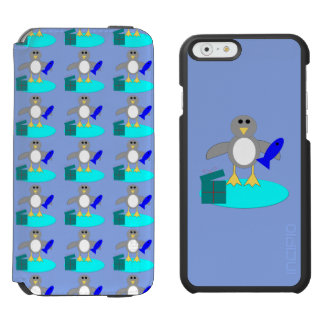 Merry Christmas Fishing Penguin iPhone Case Incipio Watson™ iPhone 6 Wallet Case