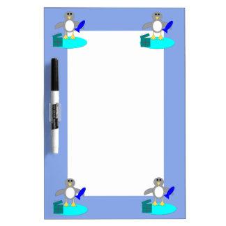 Merry Christmas Fishing Penguin Memo Board