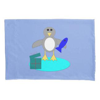 Merry Christmas Fishing Penguin Pillowcase