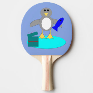 Merry Christmas Fishing Penguin Ping Pong Paddle