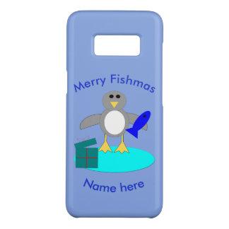 Merry Christmas Fishing Penguin Samsung Case