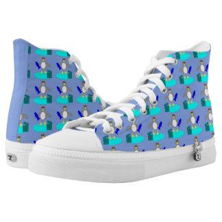 Merry Christmas Fishing Penguin Shoes
