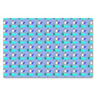 Merry Christmas Fishing Penguin Tissue Paper