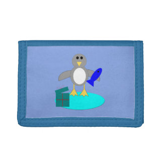 Merry Christmas Fishing Penguin Wallet