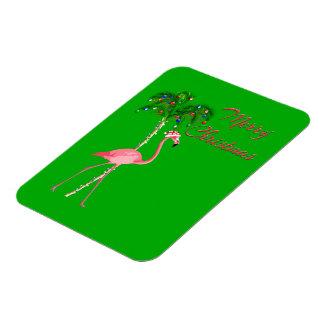 Merry Christmas Flamingo Magnet