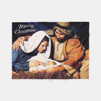 Merry Christmas Fleece Blanket