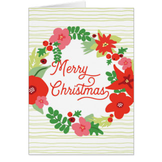 Merry Christmas Flora Greeting cards