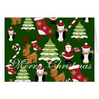 Merry Christmas Folded Christmas Greeting Cards