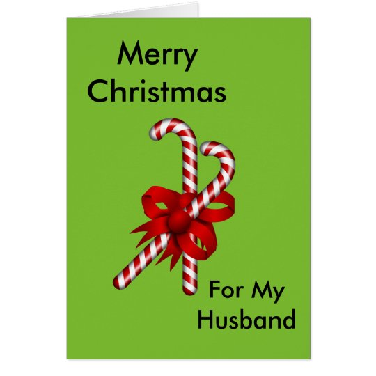 Merry Christmas for My Husband Card
