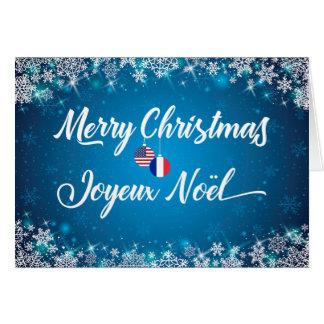 Merry Christmas French Bilingual Card Joyeux Noel