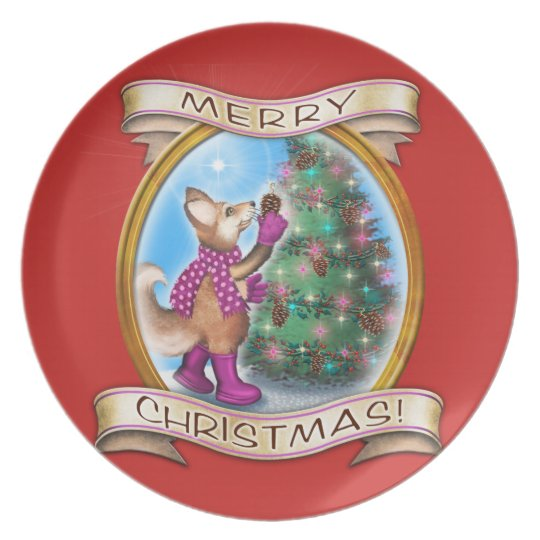 Merry Christmas - Frieda Tails collectable plate