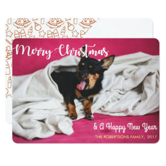 Merry Christmas from A Yawning Dog Photo Card