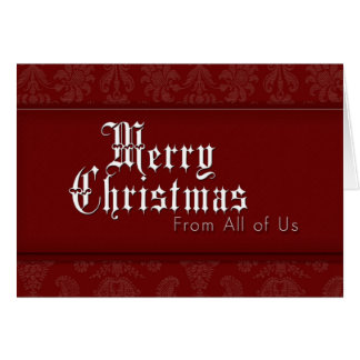 Merry Christmas From All of Us Card